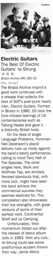 Electric Guitars Record Collector Album Review August 2013