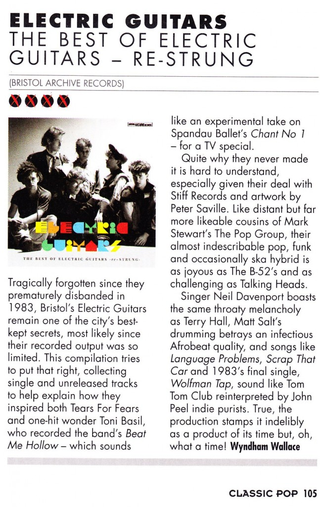 Electric Guitars Classic Pop Album Review Sept 2013