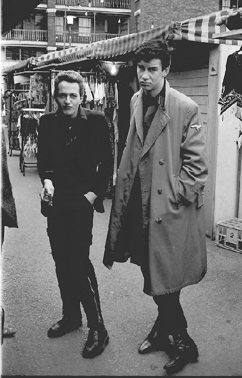 Mark Stewart and Joe Strummer by Stephen Swan