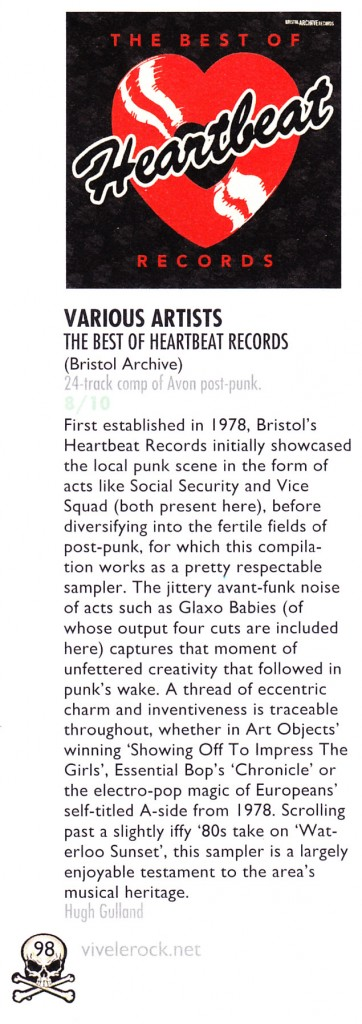 The Best of Heartbeat Records Vive le Rock album review