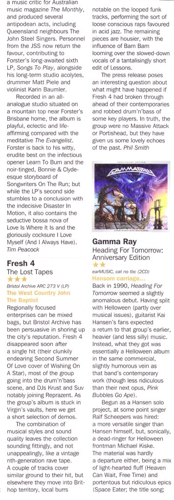 Fresh 4 Record Collector Review Sept 2015 3 star